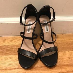 Steve Madden Black Strappy Feelya Sandals